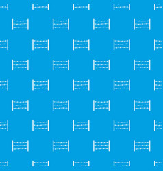 restricted area pattern seamless blue vector image