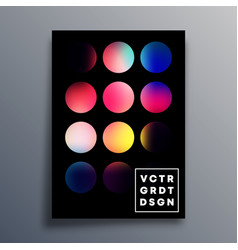 retro design poster with colorful gradient circle vector image