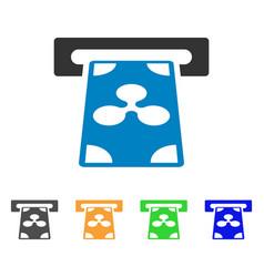 ripple banking atm icon vector image