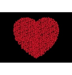Ruby red heart from small polygonal shapes vector image