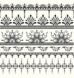 Seamless indian pattern mehndi design vector