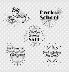 set of back to school typographic logo vector image