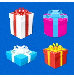 set-of-gift-boxes vector image