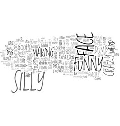 Silly word cloud concept vector