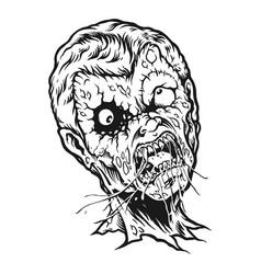 Smoking zombie silhouette vector
