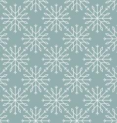 Snowflakes pattern seamless line art vector image