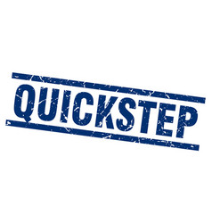 square grunge blue quickstep stamp vector image