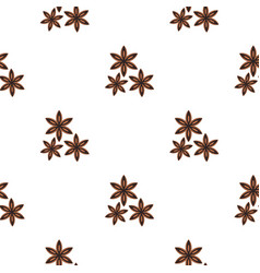 star anise spice pattern flat vector image