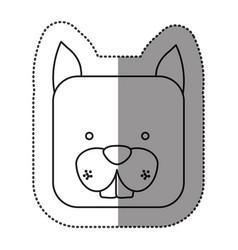 Sticker cute chipmunk animal head expression vector