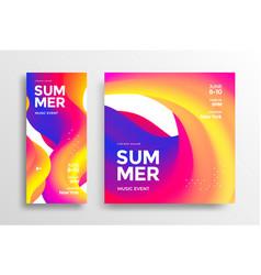 Summer music event social media banner story vector