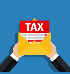 Tax debt form icon vector