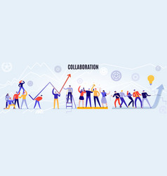 teamwork horizontal vector image
