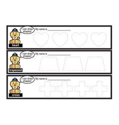 Tracing lines for preschool vector