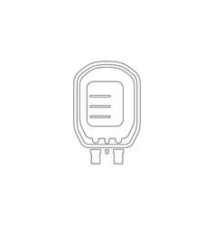 transfusion flat icon vector image