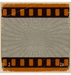 Vintage background with the image frame movie vector