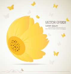 Vintage floral background - Daisies vector image