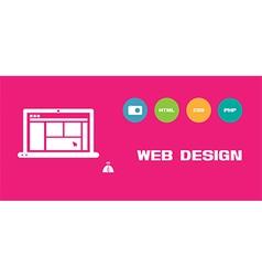 Web design social network background vector
