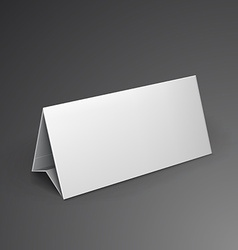 White mockup brochure 3d with shadow vector