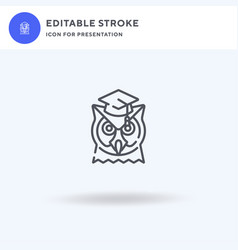 Wisdom icon filled flat sign solid vector