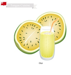 Yellow Watermelon Otai or Tongan Watermelon Drink vector