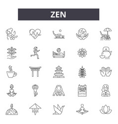 zen line icons for web and mobile design editable vector image