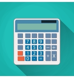 Calculator flat vector image