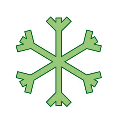 christmas snowflake snow decoration winter symbol vector image vector image
