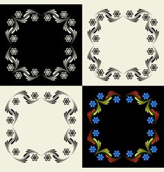 Decorative framework Set vector image vector image