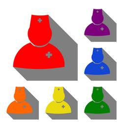 doctor sign set of red orange vector image vector image