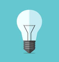 flat style light bulb vector image