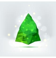 Geometric mosaic christmas tree vector image vector image