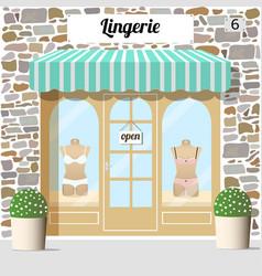 lingerie shop building facade of stone vector image vector image