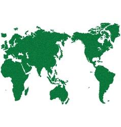 WORLD MAP GRASS GREEN vector image vector image