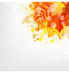 Background with autumn leaf vector