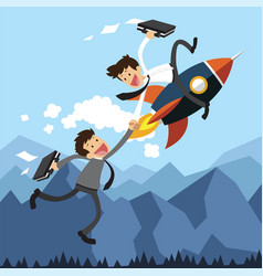 Business assistance by rocket vector