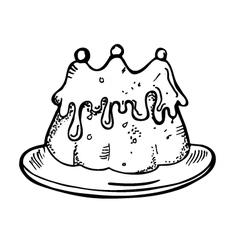 cake doodle vector image vector image