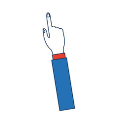 hand with index finger pointing up icon vector image vector image