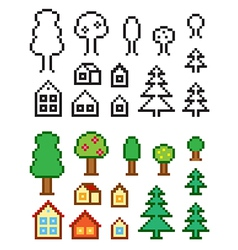 Homes and Trees vector image