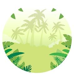 Jungle Flat Background15 vector image