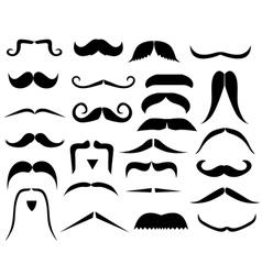moustache8vs vector image vector image