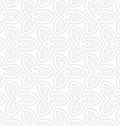 Repeating ornament dotted gray flowers vector image