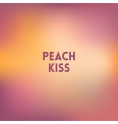 square blurred background - peach colors With vector image vector image