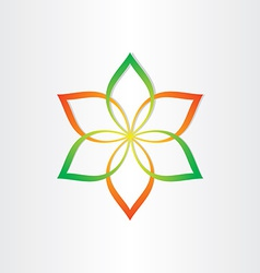 abstract flower icon design element vector image vector image