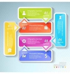 Design business infographics six successive vector image vector image