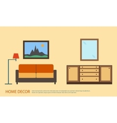 Living room with furniture minimalism Flat style vector image