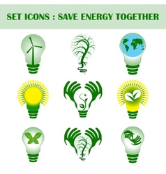 Se of ecology concept with design vector image vector image