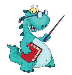 teacher dinosaur vector image vector image