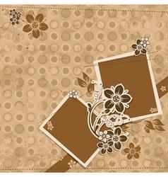 template scrap card eps10 vector image