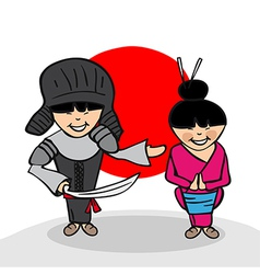Welcome to Japan people vector image vector image