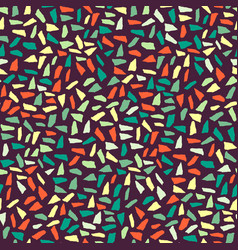 Abstract hand-drawn brush seamless pattern vector